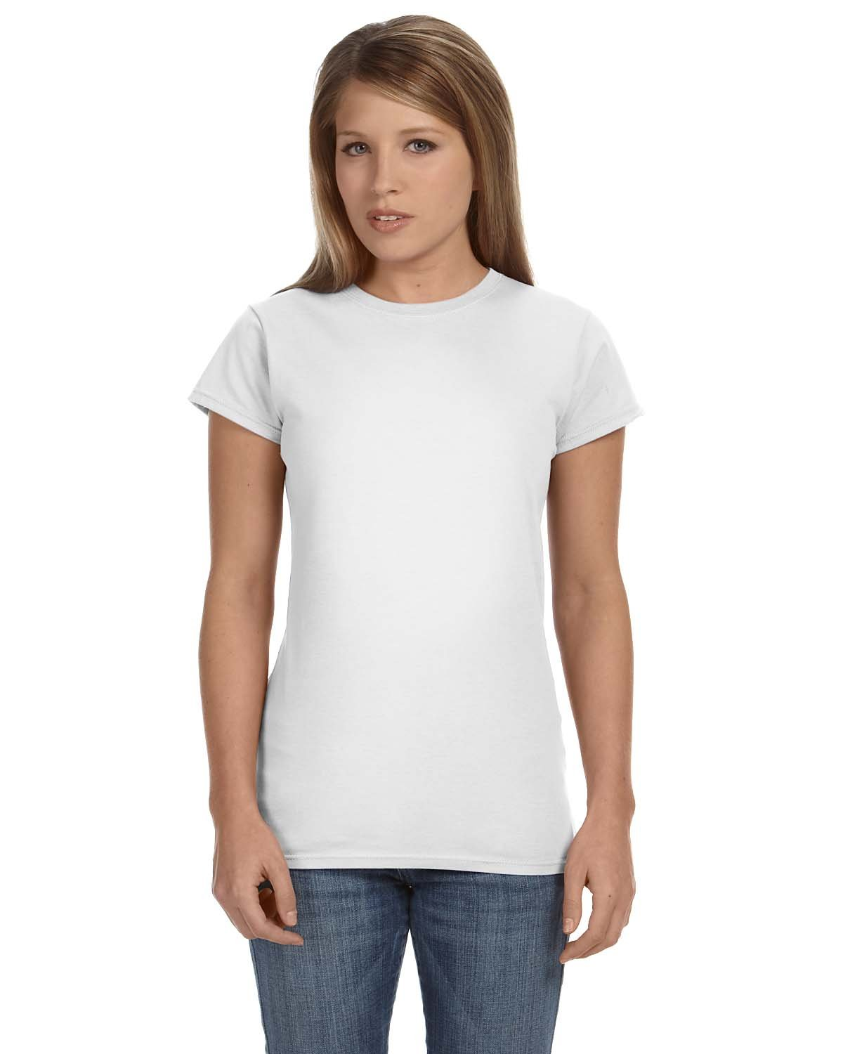 Gildan Ladies' Softstyle® 4.5 oz Fitted T-Shirt WHITE