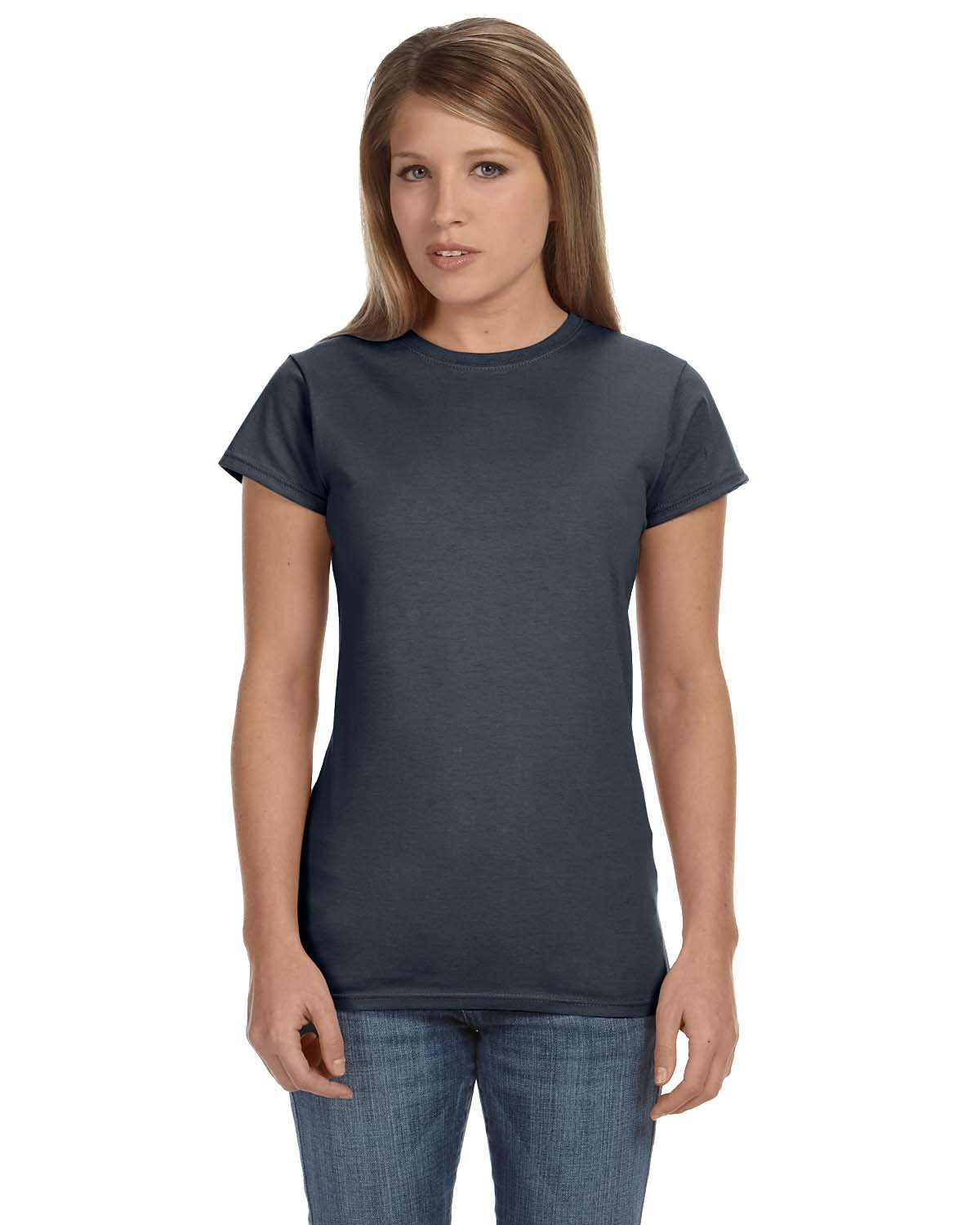 Gildan Ladies' Softstyle® 4.5 oz Fitted T-Shirt CHARCOAL