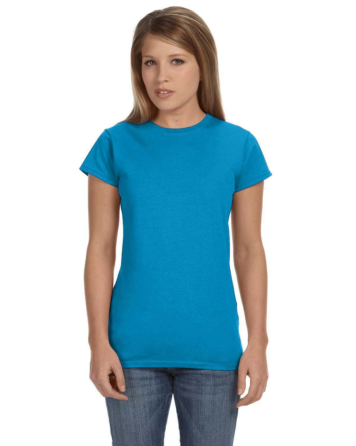 Gildan Ladies' Softstyle® 4.5 oz Fitted T-Shirt SAPPHIRE