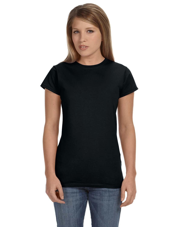 Gildan Ladies' Softstyle® 4.5 oz Fitted T-Shirt BLACK