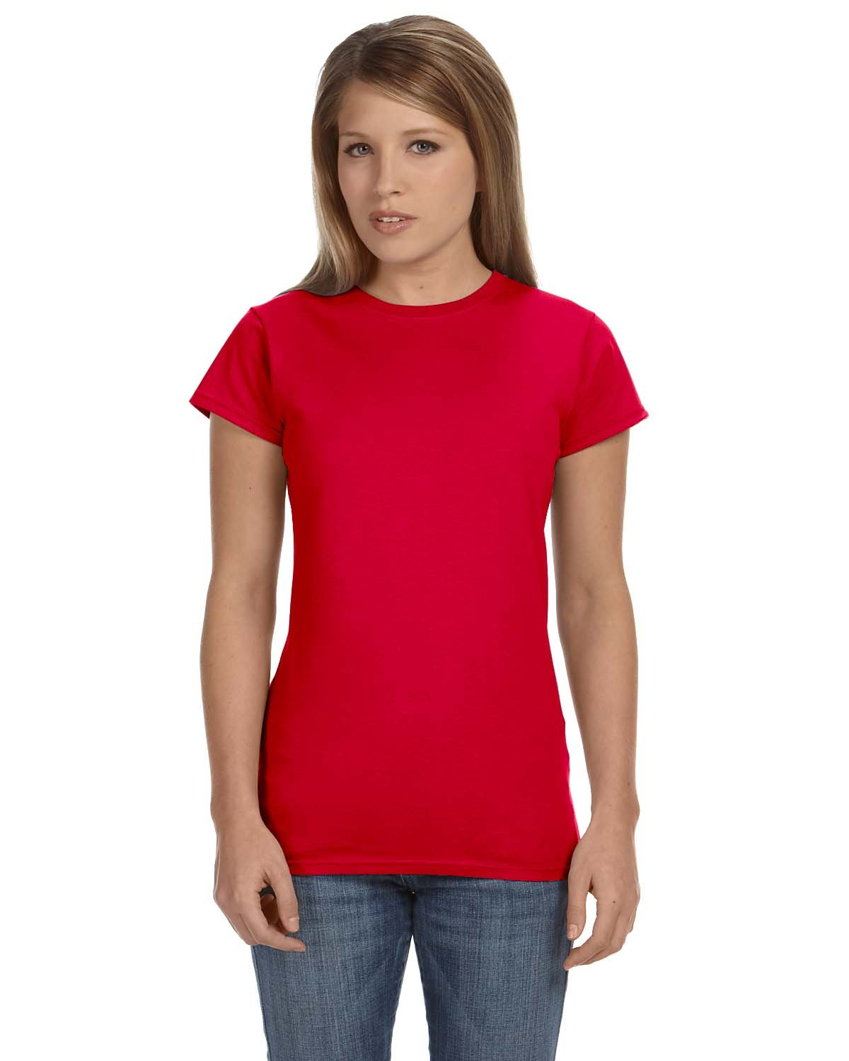 Gildan Ladies' Softstyle® 4.5 oz Fitted T-Shirt RED