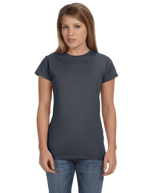 Gildan Ladies' Softstyle® 4.5 oz Fitted T-Shirt DARK HEATHER