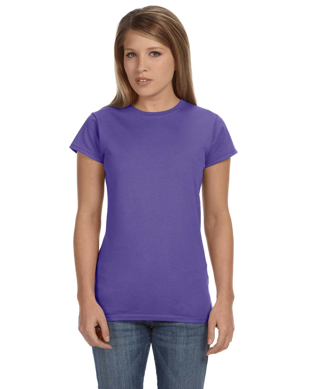 Gildan Ladies' Softstyle® 4.5 oz Fitted T-Shirt HEATHER PURPLE
