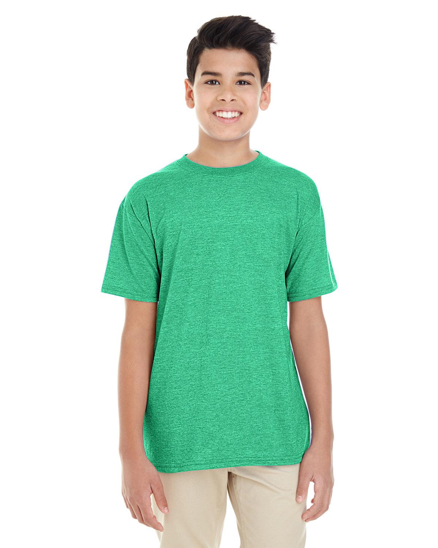 Gildan Youth Softstyle® T-Shirt HTHR IRISH GREEN