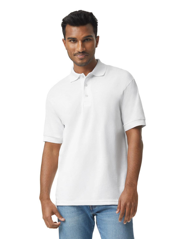 Gildan Adult 50/50 Jersey Polo WHITE