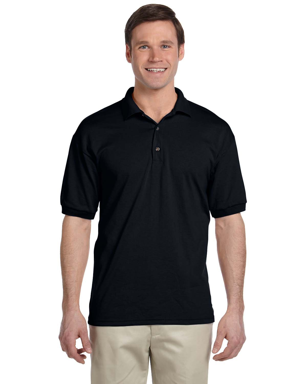Gildan Adult 50/50 Jersey Polo BLACK
