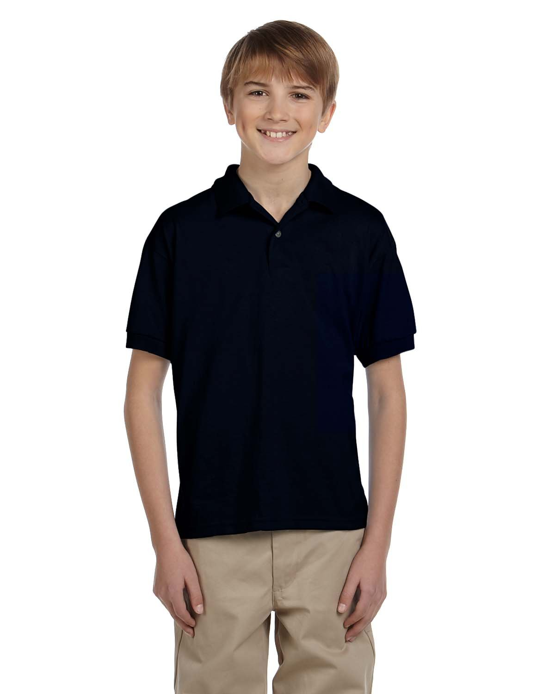 Gildan Youth 50/50 Jersey Polo BLACK