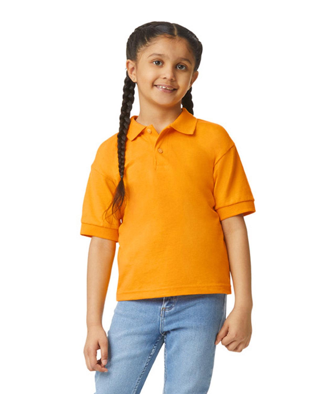 Gildan Youth 50/50 Jersey Polo GOLD
