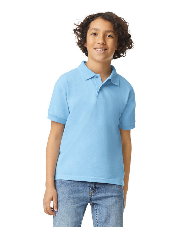 Gildan Youth 50/50 Jersey Polo LIGHT BLUE