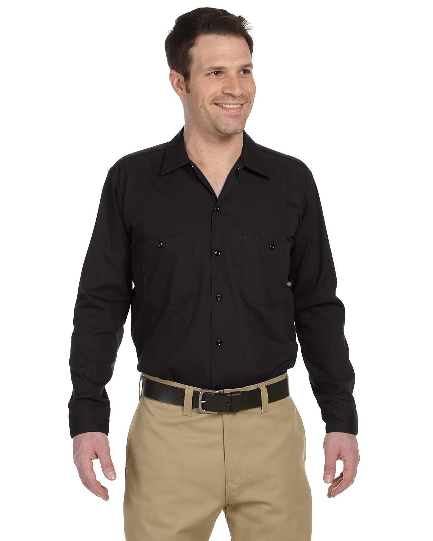 Dickies Men's 4.25 oz. Industrial Long-Sleeve Work Shirt BLACK