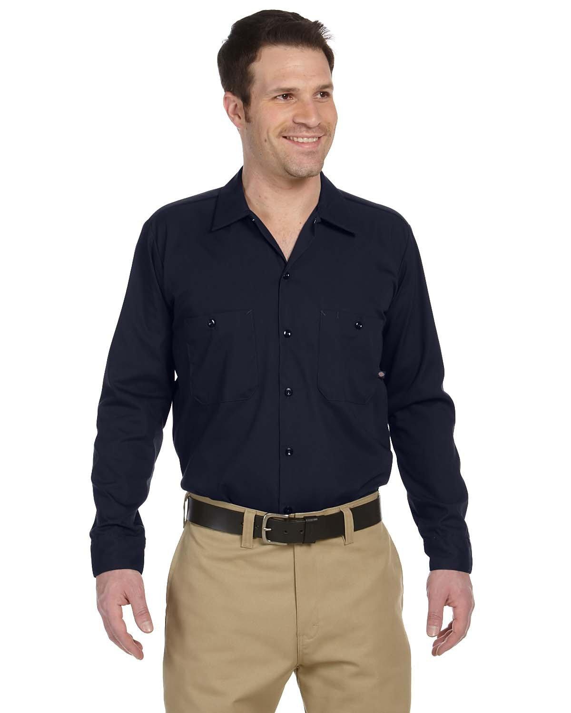 Dickies Men's 4.25 oz. Industrial Long-Sleeve Work Shirt DARK NAVY