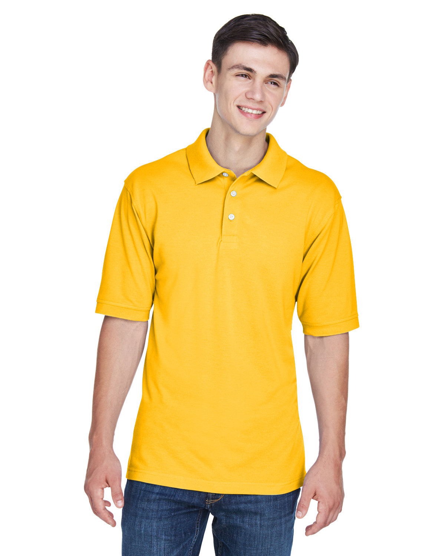 Harriton Men's 5.6 oz. Easy Blend™ Polo SUNRAY YELLOW