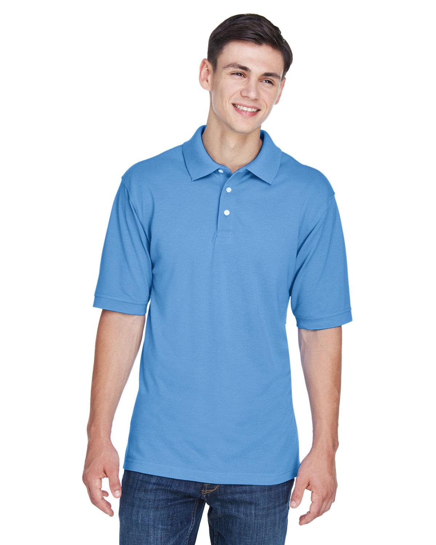 Harriton Men's 5.6 oz. Easy Blend™ Polo LT COLLEGE BLUE