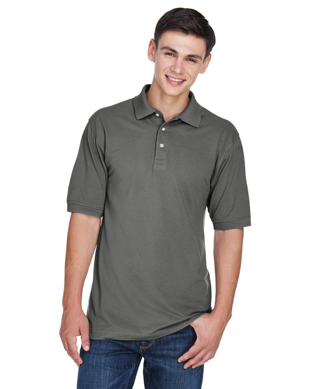Harriton Men's Tall 5.6 oz. Easy Blend™ Polo CHARCOAL