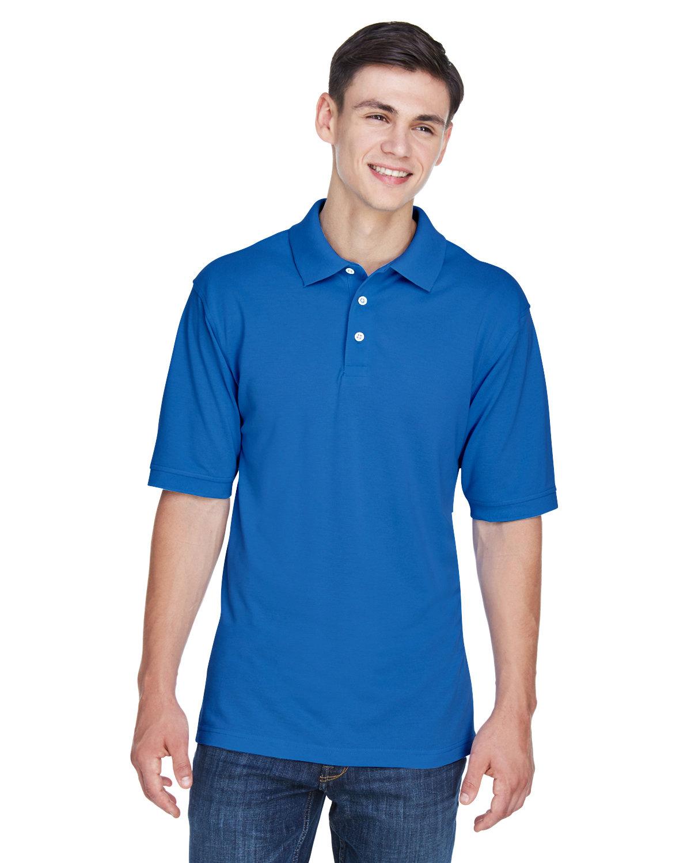 Harriton Men's Tall 5.6 oz. Easy Blend™ Polo TRUE ROYAL
