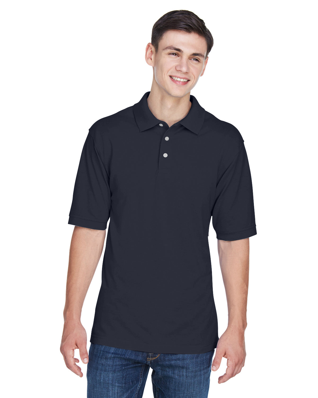 Harriton Men's Tall 5.6 oz. Easy Blend™ Polo NAVY