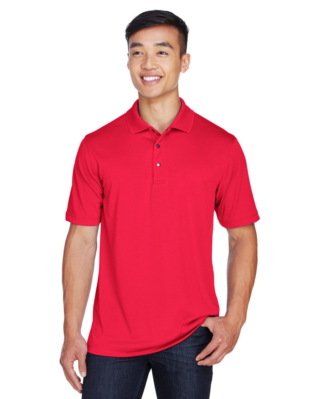 Harriton Men's Advantage Snag Protection Plus IL Snap Placket Polo RED