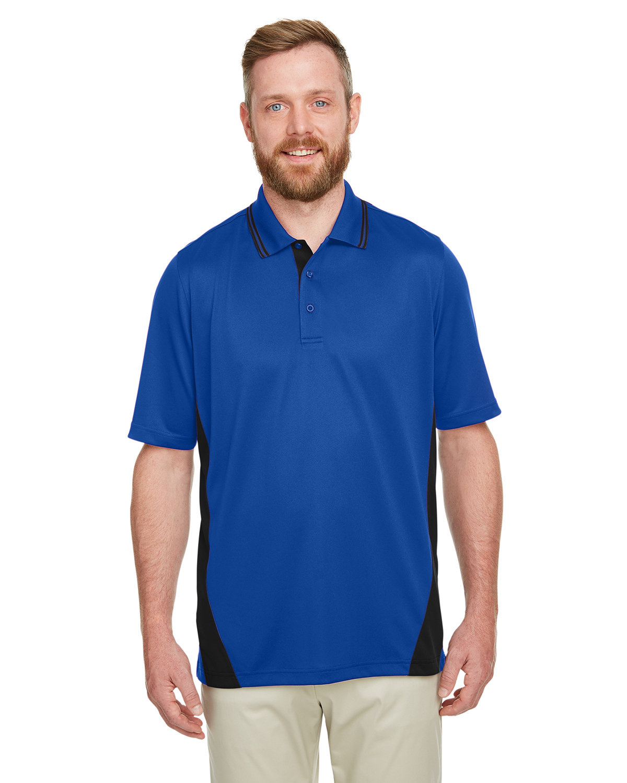 Harriton Men's Tall Flash Snag Protection Plus IL Colorblock Polo TR ROYAL/ BLACK