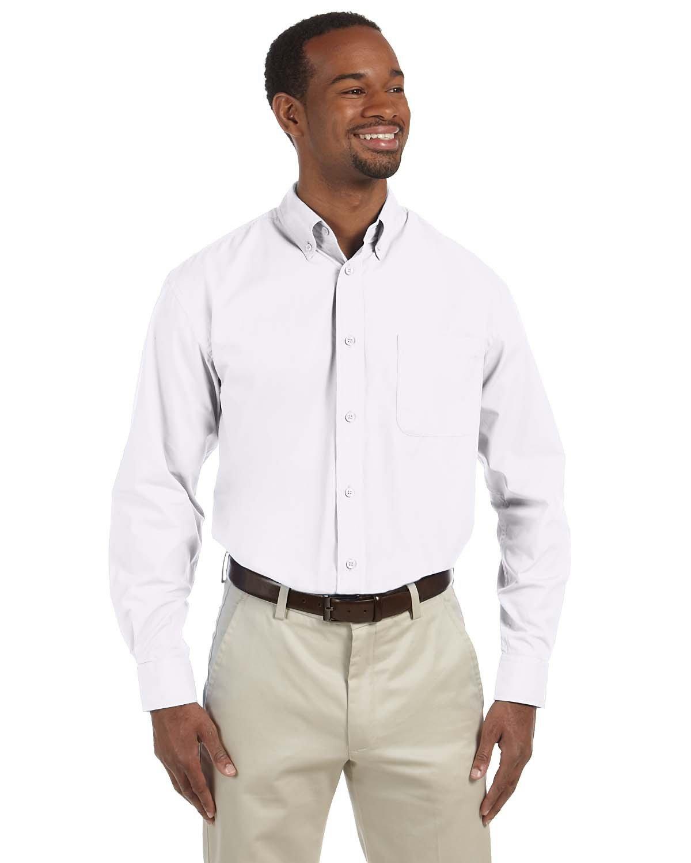 Harriton Men's Tall 3.1 oz. Essential Poplin WHITE
