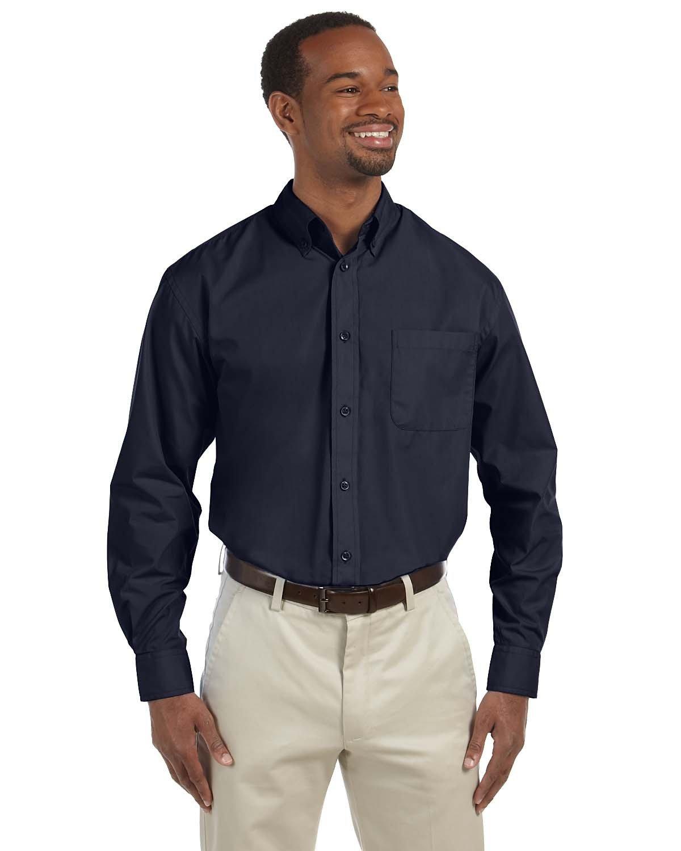 Harriton Men's Tall 3.1 oz. Essential Poplin NAVY