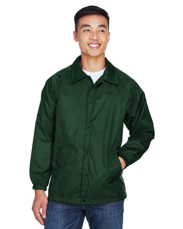 Harriton Adult Nylon Staff Jacket DARK GREEN