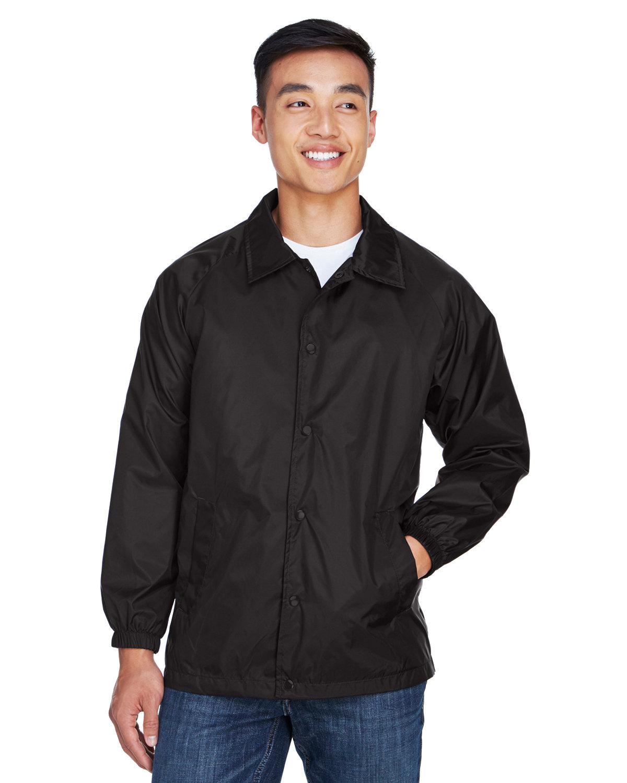 Harriton Adult Nylon Staff Jacket BLACK