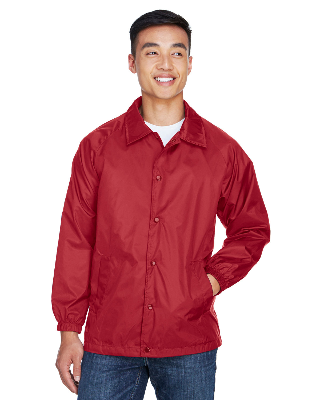 Harriton Adult Nylon Staff Jacket RED