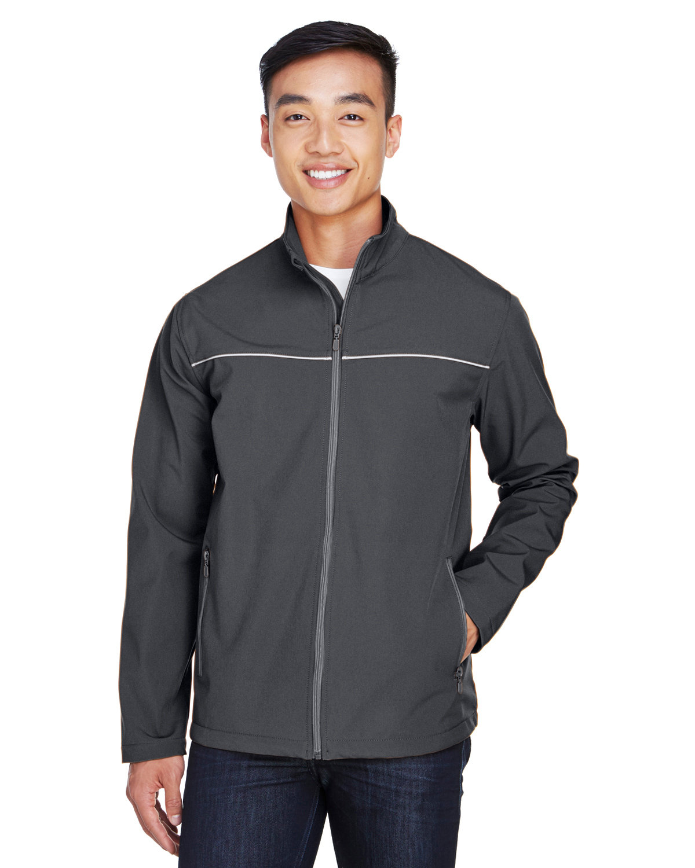 Harriton Men's Echo Soft Shell Jacket DARK CHARCOAL