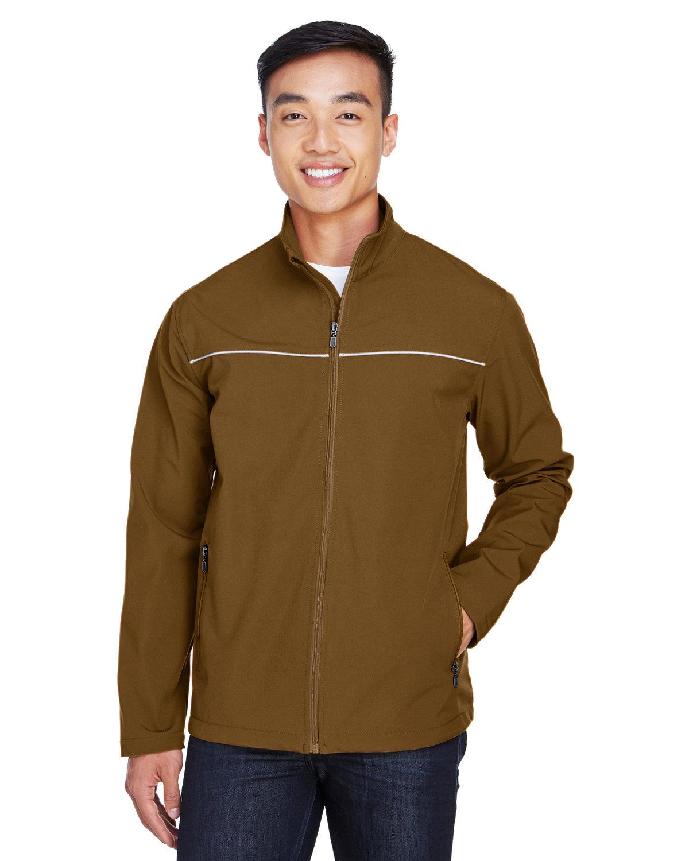 Harriton Men's Echo Soft Shell Jacket DUCK BROWN