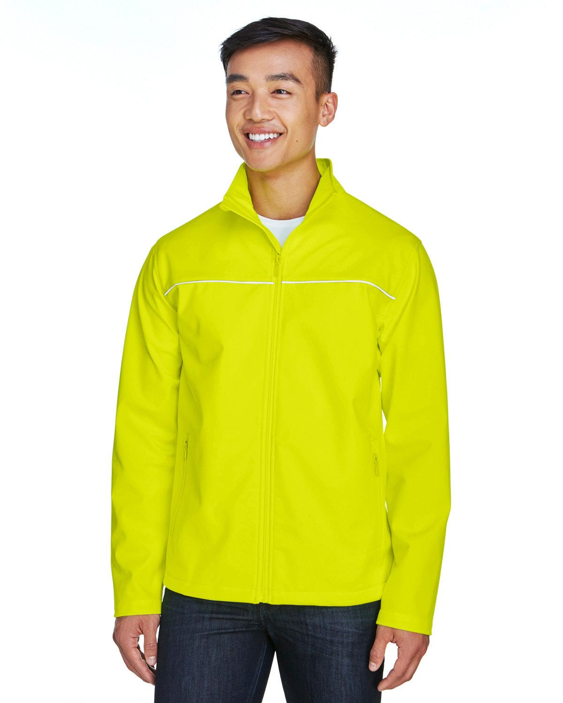 Harriton Men's Echo Soft Shell Jacket SAFETY YELLOW