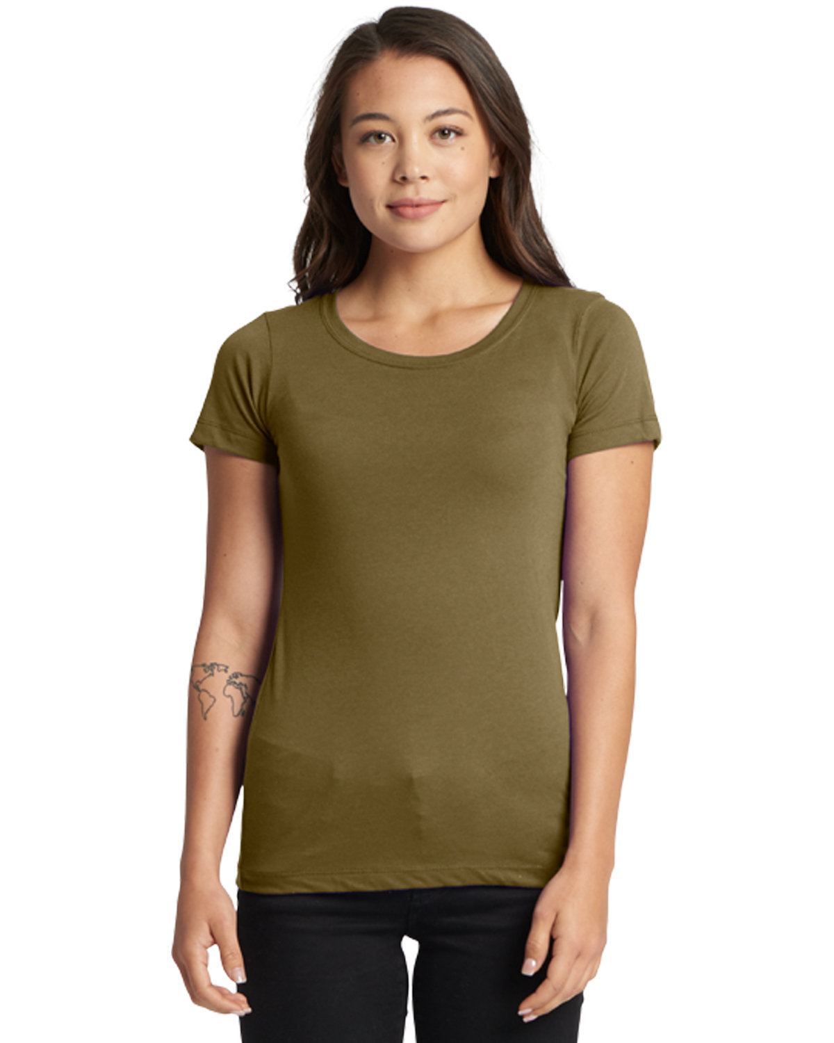 Next Level Ladies' Ideal T-Shirt MILITARY GREEN