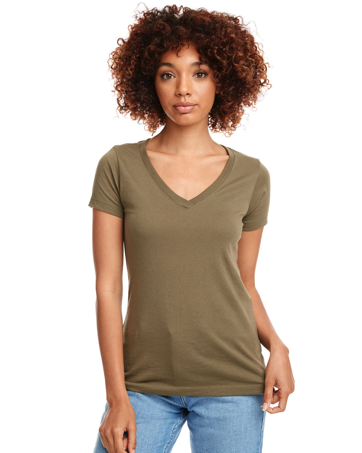 Next Level Ladies' Ideal V MILITARY GREEN