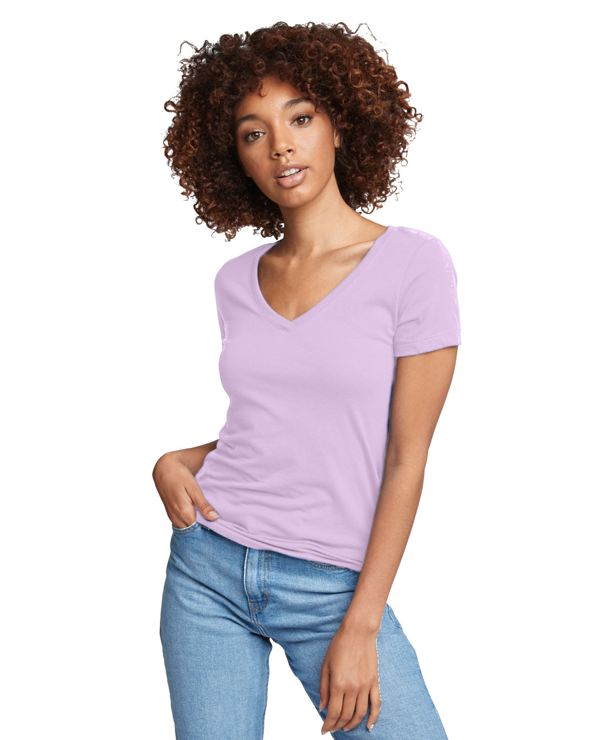 Next Level Ladies' Ideal V LILAC