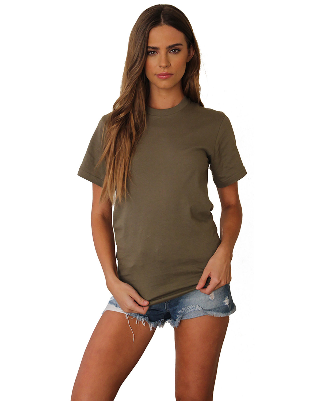 Next Level Unisex Ideal Heavyweight Cotton Crewneck T-Shirt MILITARY GREEN