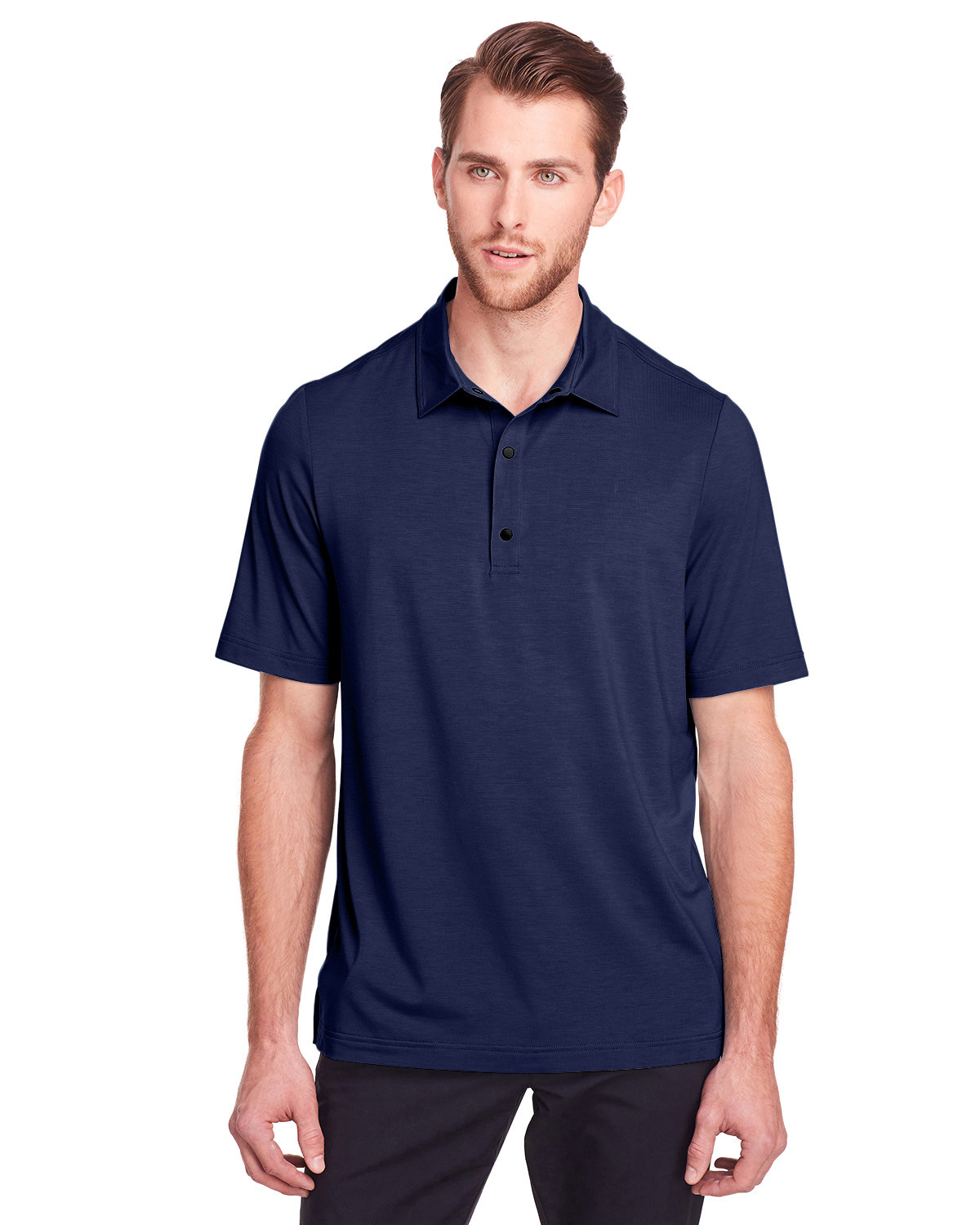 North End Men's Jaq Snap-Up Stretch Performance Polo CLASSIC NAVY