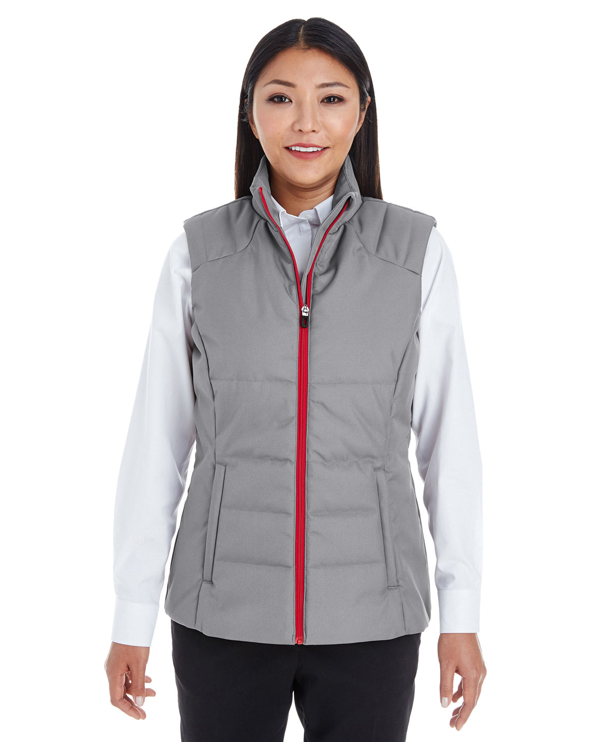 North End Ladies' Engage Interactive Insulated Vest GRAPH/ CLS RED