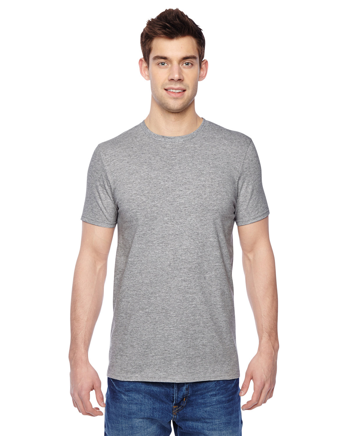 Fruit of the Loom Adult Sofspun® Jersey Crew T-Shirt ATHLETIC HEATHER