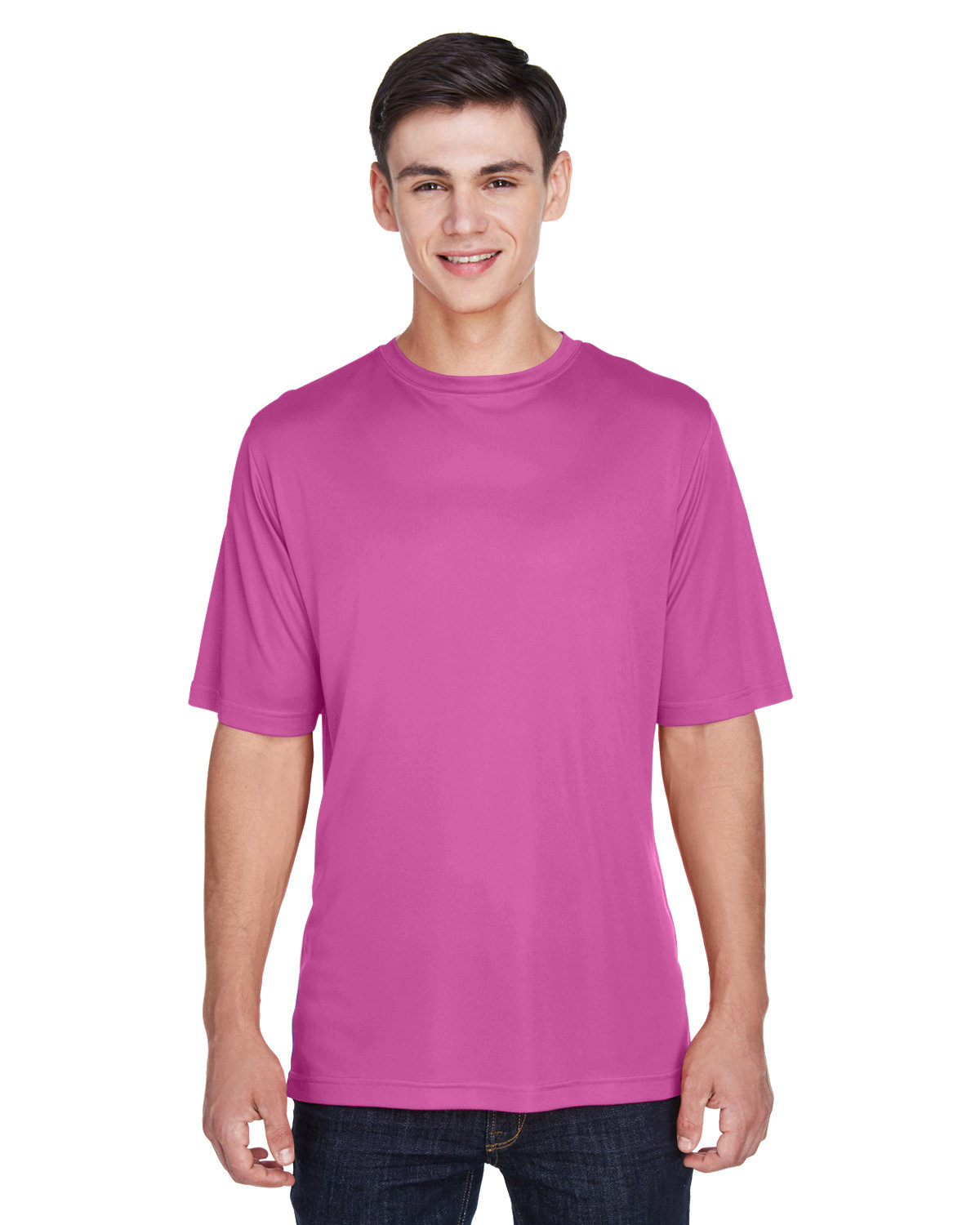 Team 365 Men's Zone Performance T-Shirt SP CHARITY PINK