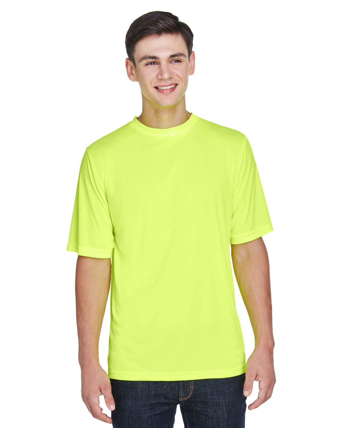 Team 365 Men's Zone Performance T-Shirt SAFETY YELLOW
