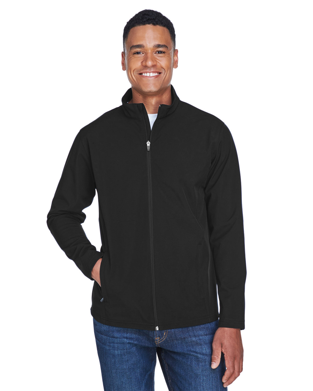 Team 365 Men's Leader Soft Shell Jacket BLACK