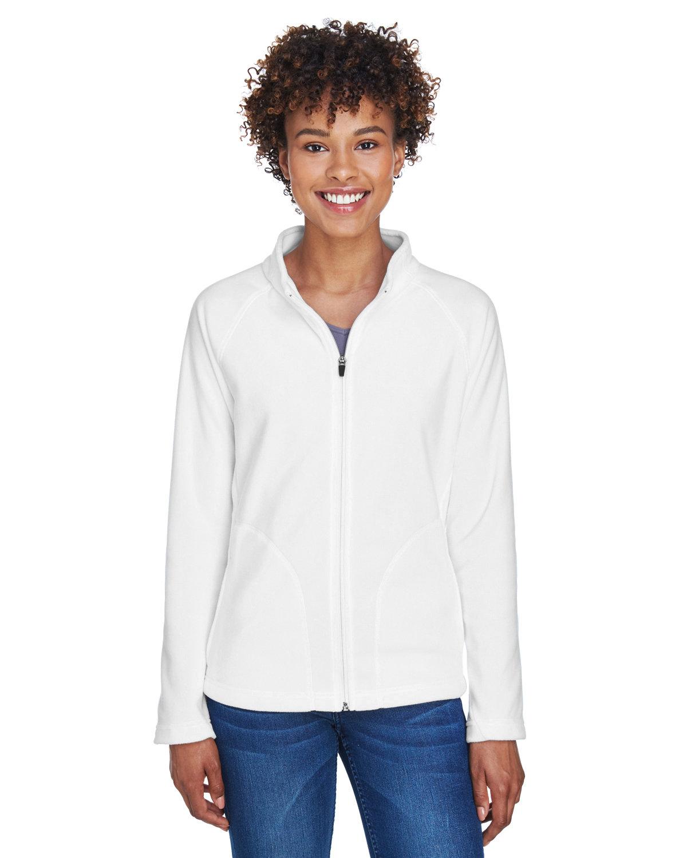 Team 365 Ladies' Campus Microfleece Jacket WHITE