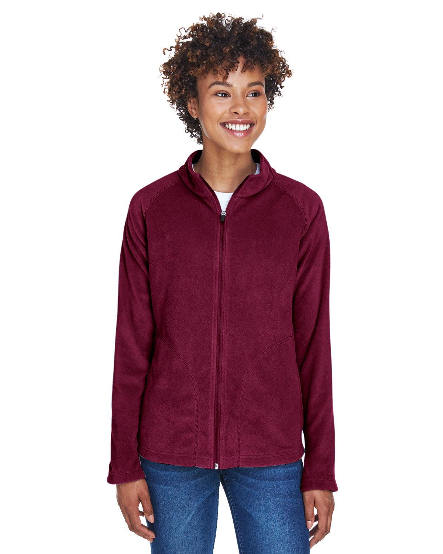 Team 365 Ladies' Campus Microfleece Jacket SPORT MAROON