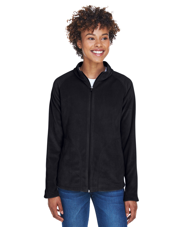 Team 365 Ladies' Campus Microfleece Jacket BLACK