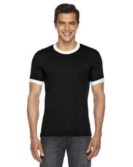 American Apparel UNISEX Poly-Cotton Short-Sleeve Ringer T-Shirt