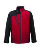 North End Men's Terrain Colorblock Soft Shell with Embossed Print CLASSIC RED OFFront