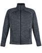 North End Men's Flux Mélange Bonded Fleece Jacket  OFFront