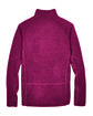 Devon & Jones Adult Bristol Sweater Fleece Quarter-Zip RED HEATHER FlatBack